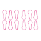 HiyaHiya Knitter's Safety Pin Stitch Markers- Pink (12pk)