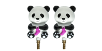 HiyaHiya Interchangeable Cable Stopper - Small Panda Li