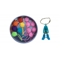 Yarn Ball Stitch Marker Gift Tin