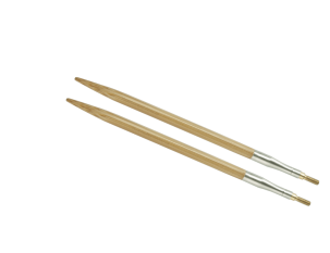 "7 US/4.5mm 4"" HiyaHiya Bamboo Interchangeable Tips"